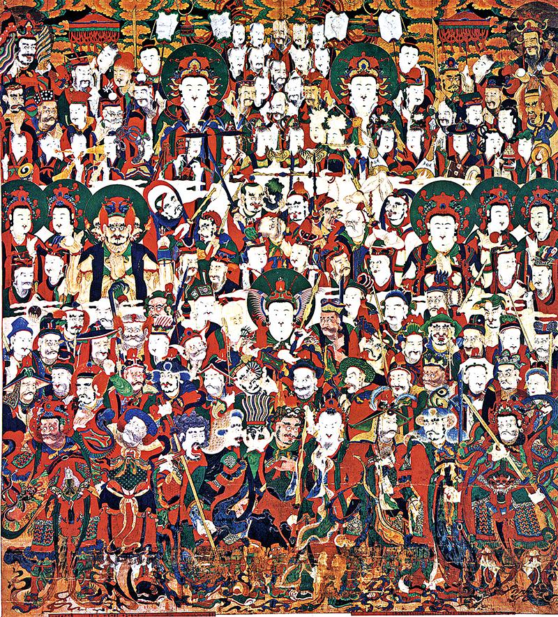 신중도, 조선 1862년, 비단에 채색, 348.5×315.5cm, 해인사 대적광전. 사진=성보문화재연구원